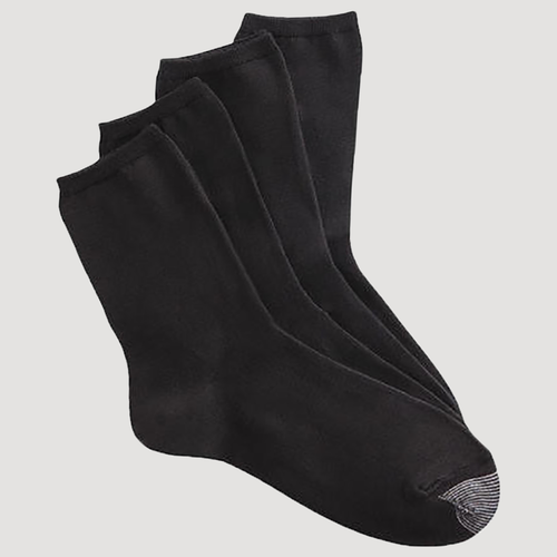 Silvertoe Women's Crew Socks - 4 Pair