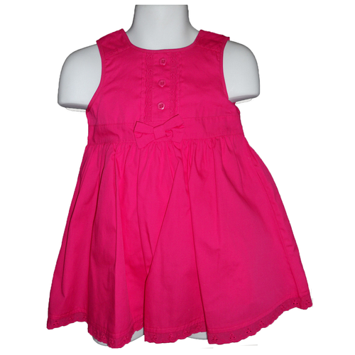 Solid Pink Toddler Girl Sleeveless Dress by Sweet