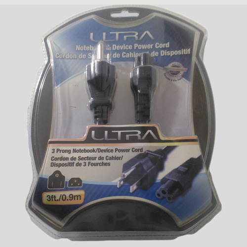 Ultra 3 Prong Notebook/Device Power Cord