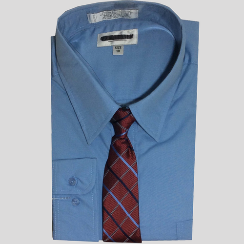 Van Heusen Long Sleeves Dress Shirt and Tie Set