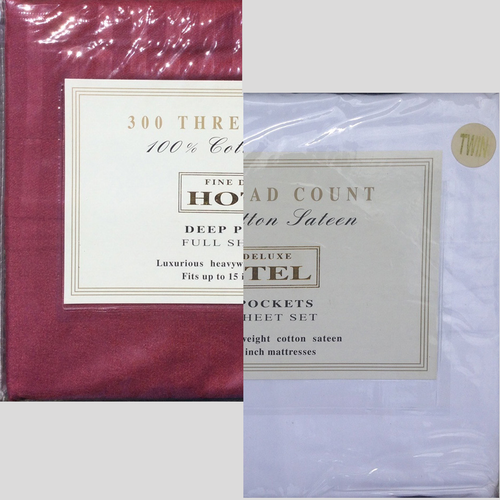 Fine Deluxe Hotel 300 Thread Count Sheet Set