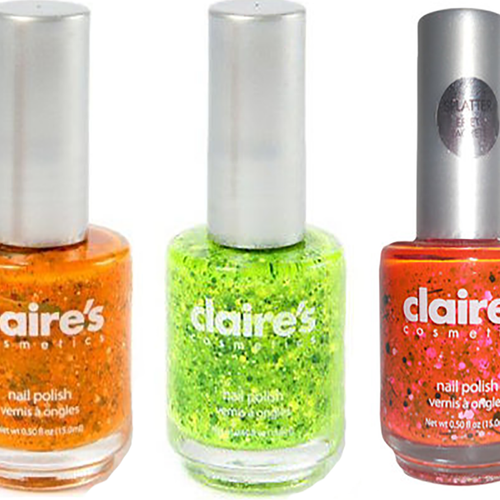 Claire's Splatter Effect Nail Polish - Graffiti, Pop Art, Cosmic