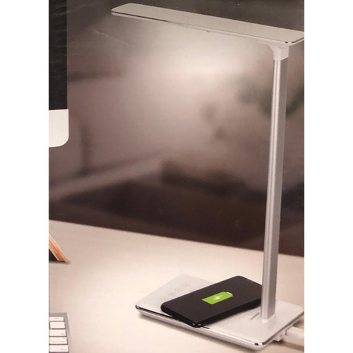 CJ TECH QI Wireless Charging LED Lamp w/USB (White)