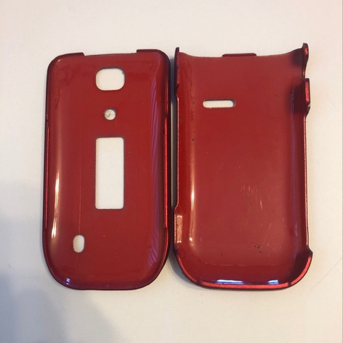 ALCATEL ONETOUCH 768T Hard Red Cover Slim Snap On Protective Case