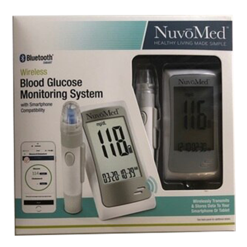 NuvoMed Wireless Bluetooth Blood Glucose Monitoring System