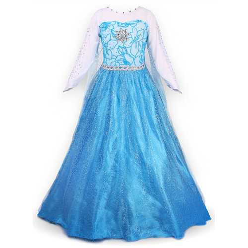 Snow Party Dress Queen Costume Princess Cosplay Dress Up L227-SL8780