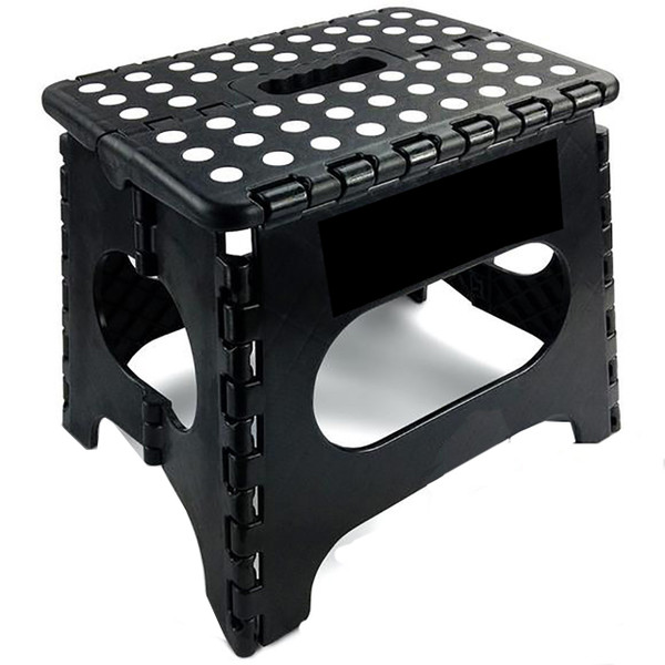 Simple & Co. 11 Inches Non Slip Folding Step Stool-Black