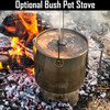 120 oz. Stainless Steel - Bush Pot And Lid