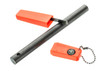 "6"" Flint Firestarter with Ball Keychain (Compass, Flint & Strike & Whistle)"
