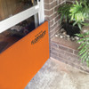 Quick Dam Flood Gates block doorways from oncoming flood water. This steel & neoprene frame expands to fit multiple size doorways & seals off the doorway in just minutes, with no alterations or fixations needed.