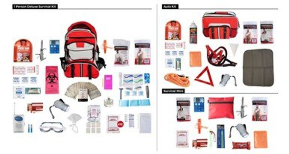 This Package is designed to fill all of the preparedness needs of 1 individual by providing emergency supplies for the home, car, and one other location.