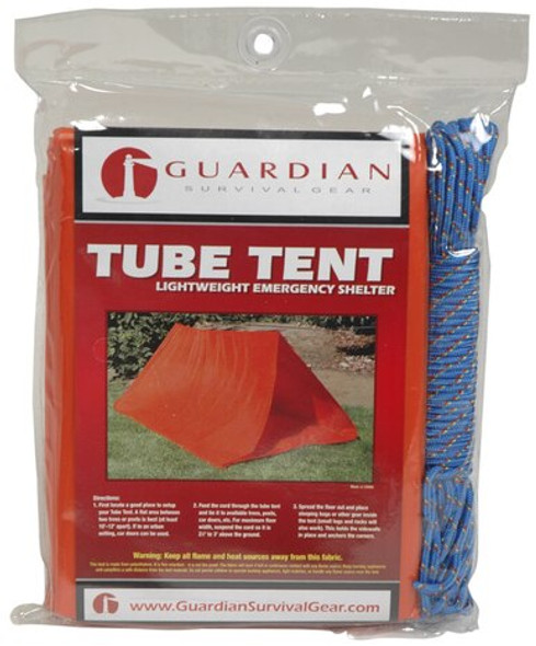 This handy emergency tent is made of waterproof polyethylene. It is fire retardant, and includes instructions for use and durable rope for easy set up.
