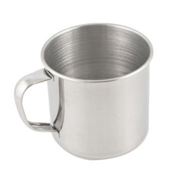 Stainless steel cup for cooking or boiling water, perfect for camping or an outdoor activities.