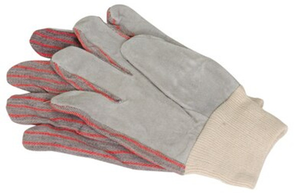 These leather-palm gloves are made to resist hot temperatures. They are flexible and easy to work with.