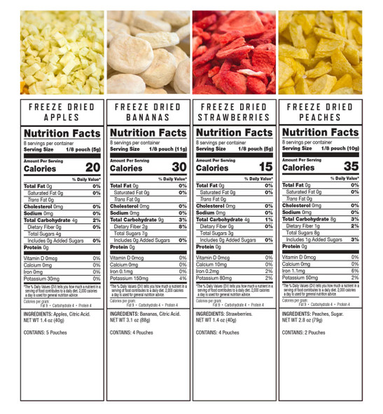 Emergency Freeze Dried Fruit - 120 Servings