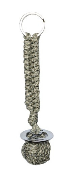 Be prepared wherever you go with the Guardian Cord Paracord Keychain. Our Guardian Cord Paracord Keychain is made of 8 Feet of 550lb-rated paracord, is great for everyday use! This Keychain includes the following: the cord is wrapped around a heavy steel ball that can be used for self-defense, 8 Feet of copper wire built into the cord, 8 Feet of fishing line built into the cord, 8 Feet of tinder built into the cord, and bottle opener.