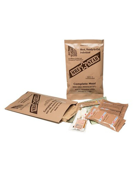 Whether you're prepping for your backpacking trip or any emergency you may face, you have  to have food that packed and READY to eat. This case comes with 12 single Complete MRE meals that healthy and safe to eat. Pick from out variety of VEGETARIAN menus that can be heated up right on the spot and ready to eat! Fully prepared, packaged for long term storage, great flavor, no preservatives and has a shelf life of 5 years! HEATERS INCLUDED IN THIS SPECIFIC CASE OF MRE MEALS.