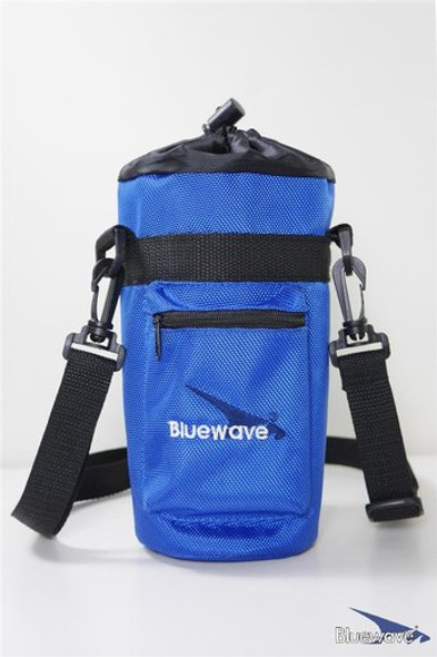 Bluewave Insulated Water Bottle Holder / Water Bottle Carrier Case to hold your chilled drinks without destroying your other belongings. It comes with a zipper pouch for your keys and coins, as well as a shoulder strap to carry with you on the go. The added carabiner clip allows you to attach the sports sac to your backpack or loop it to your belt. Available in a variety of color.