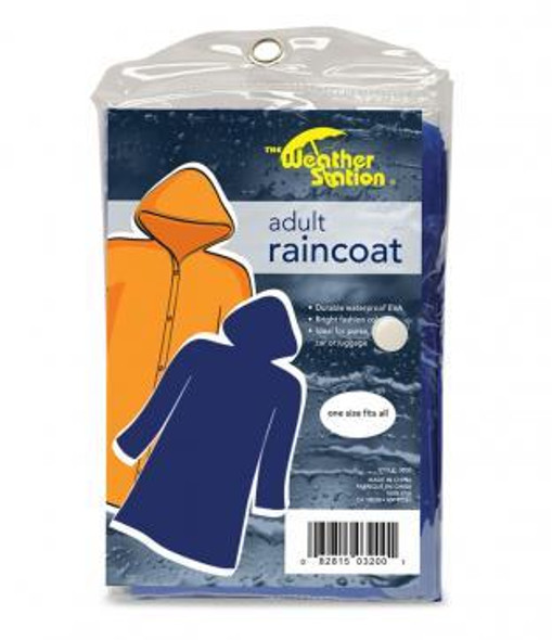 Perfect for rainy weather, these Weather Station Adult Raincoat is compact and convenient that fit anywhere! Available in a small variety of colors and fits all sizes
