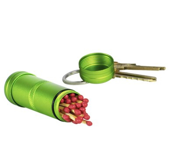 The Life+Gear Stash capsules are the perfect accessory to keep your valuables dry. These multipurpose capsules are perfect for fishing, camping, hiking or as daily emergency gear. The capsules are made with anodized aluminum and the o-ring seal so that they are completely waterproof. The small capsule includes a key ring.