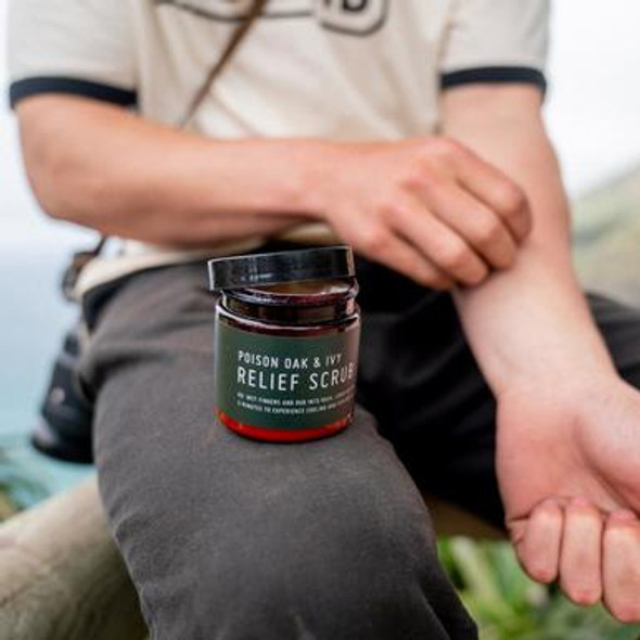 One of our biggest fears while being in the outdoor is coming in contact with Poison Oak & Ivy, which is why we have to prepared at all times! With Windland's Poison Oak & Ivy Relief Scrub is plant based Scrub with natural Exfoliant (Jojoba Esters) to help remove excess oil and brings a cool relief the itching and also helping the dry rash to heal.