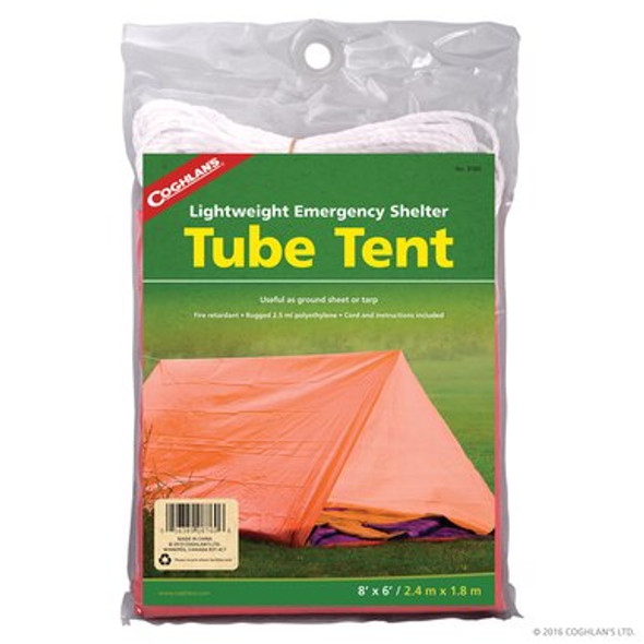 Coghlan's Tube Tent is an easy and light weight shelter to take with you for your outdoor needs with enough space for 2 people. This versatile tent can be used as a groundsheet or trap; great for emergency preparedness.
