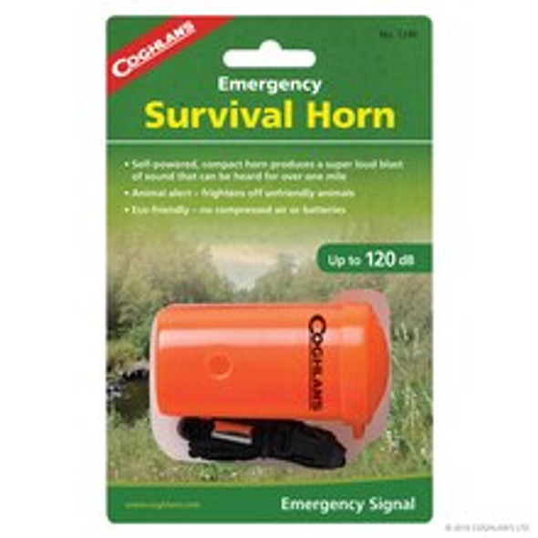 The Coghlan's Emergency Survival Horn is essential to carry while hiking, camping. cycling. etc.