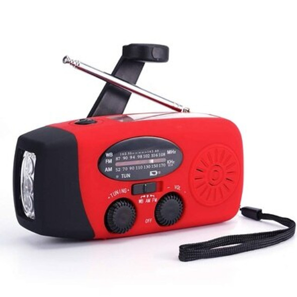 This Emergency Solar / Hand Crank Weather Radio with Flashlight is always ready whenever and wherever, it ready to go! ideal for any emergency and outdoor activities, the powerful 18650 lithium rechargeable battery can be charged via a USB cable, the solar panel, or the hand crank. This emergency radio flashlight was designed with extremes in mind! Hurricanes, tornadoes, rainstorms, fires, and more-this Weather Radio will keep your family safe through it all!