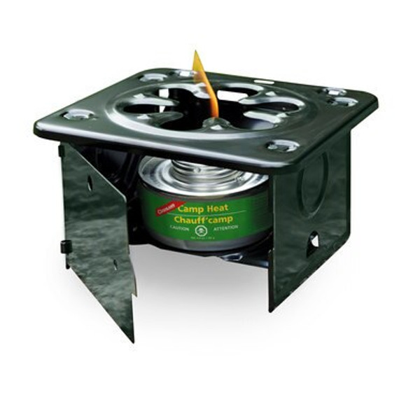 This Coghlan's Folding Stove is ideal when it comes to your outdoor activities. This folding stove is compact, light wight and easy to travel with or even for emergencies. Coated in steel construction that is strong enough to hold a heavy pot, has a front door and side to protect flame from wind.