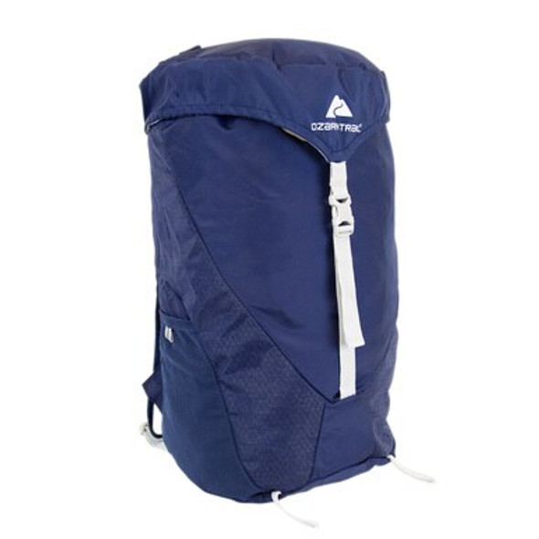 The Ozark Trail 28L Gainesville Backpack is a lightweight pack that can stowaway into its pouch so you can bring it along as your technical day pack. Features lightweight construction, a sternum support strap, breathable air mesh shoulder straps, hydration compatible and dual water bottle pockets make this a perfect backpack for hiking or biking or city adventures.