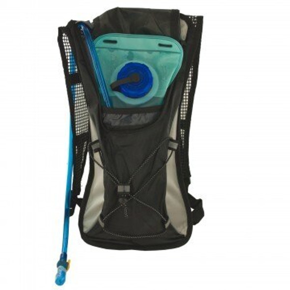 This reliable 2 Liter Hydration Backpack with Flexible Drinking Tube is great for camping, hiking, and cycling. BPA free and Durable nylon and mesh sport style backpack is truly convenient.