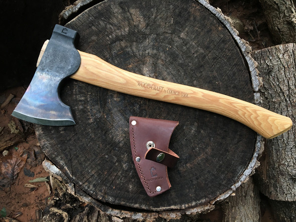 The Council Tool Co.'s WOOD-CRAFT  Camp Carver is designed to be a multi-use bushcraft/camping axe, and a carving axe for fine woodworking. The design has its heritage in the larger riggers axes of North America, the bearded axes of Northern Europe.  It's a carver (bushcraft axe) that you don't have to worry about bringing into the woods with you, or letting it get dirty while doing camp-chores.