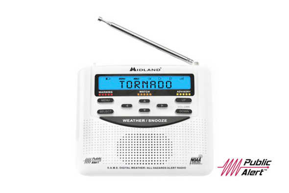 The gold standard of NOAA Weather Radios. The WR120 Emergency Weather Alert Radio features S.A.M.E. EZ localized programming and alerts you to over 60 kinds of weather hazards and emergencies.