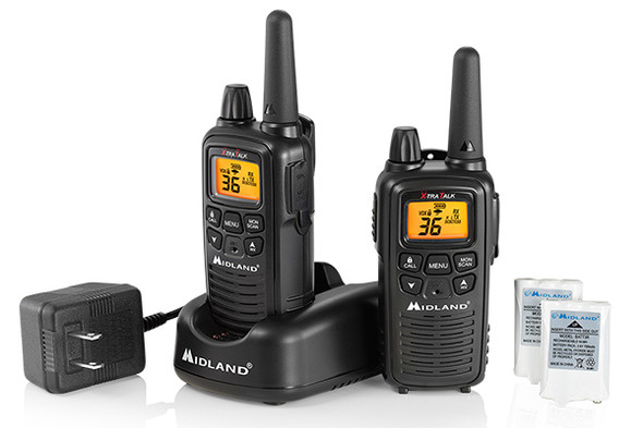 The LXT600 walkie talkie comes with 22 Channels Plus 14 Extra Channels – Crisp, clear communication with easy button access. Xtreme Range* – Up to 30 miles. NOAA Weather Alert & Weather Scan technology, plus a 3-Year Warranty. License Free FRS Radio.