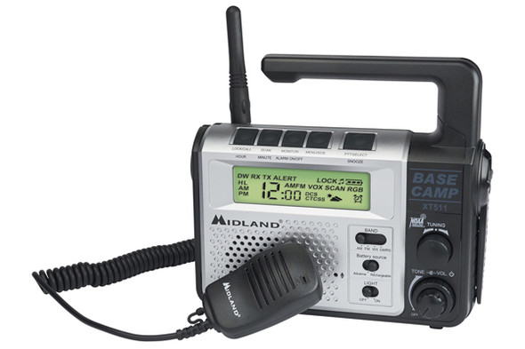 The XT511 is a 22 Channel GMRS Radio with five power options. Featuring NOAA Weather Radio with Alert as well as an AM/FM Radio, making the XT511 the ultimate communication tool.