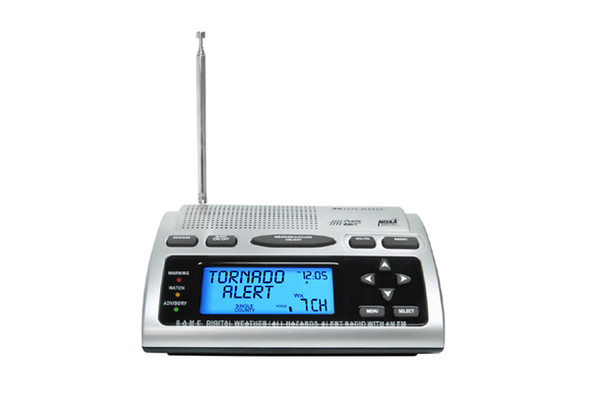 With the ability to customize the warnings you receive, the WR300 emergency weather alert radio also has a programmable siren level to adjust the volume of your alerts to suit your needs and AM/FM stereo.