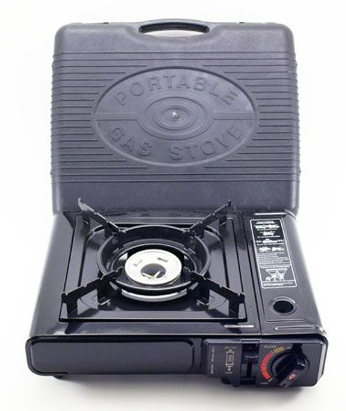 This stove is lightweight, compact and versatile. Ideal for camping, backpacking, outdoor cooking, canning. Uses 8 oz Butane Canister. 7,650 BTU High Output. Comes with portable carrying case.