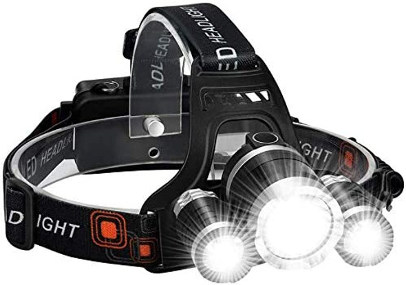 9000 Lumens LED Headlamp. 4 Light Modes and Waterproof.   Perfect Headlamp for Camping, Hiking, Outdoors, and Survival Situations.