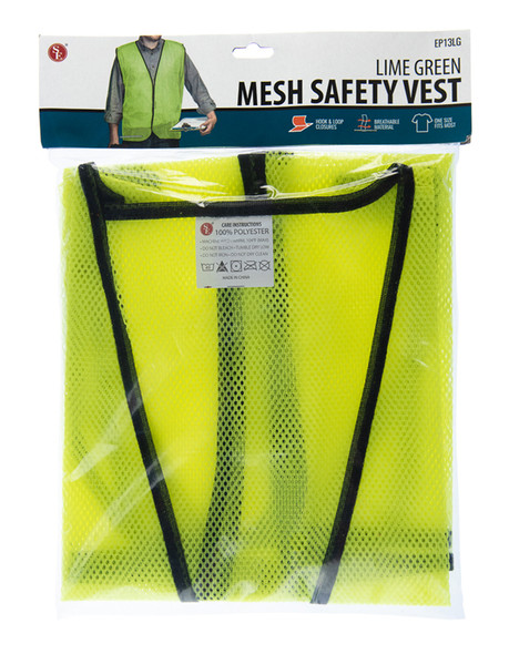 Lime Green Mesh Safety Vest