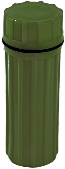 3-IN-1 Green Waterproof Match Storage Box in Green.