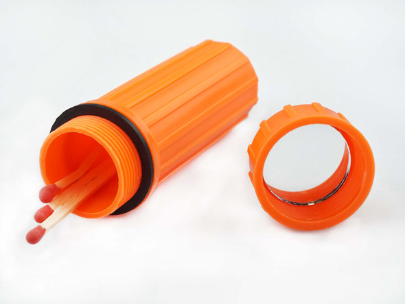 3-IN-1 Orange Waterproof Match Storage Box