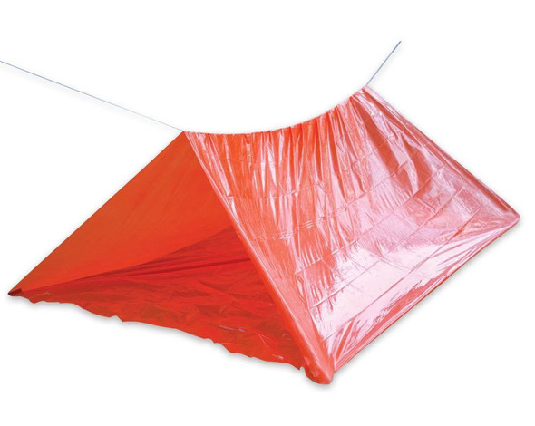 Create a camp site or an emergency shelter in minutes using our two-person Camping Tube Tent with 25-foot nylon rope.