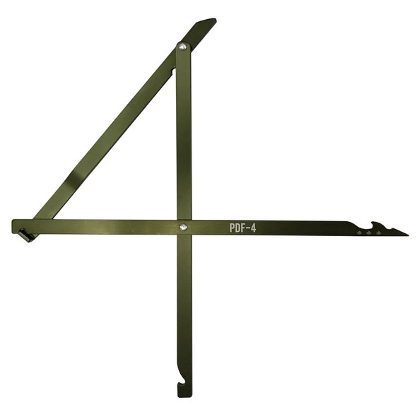 This PDF-4 Deadfall Trap is made with a combination of 6000 series aluminum, and the pivot points are put together with aircraft-type rivets. The traps are also anodized with a Type III harden finished. A lot of effort was made to keep these traps light, compact, and durable.