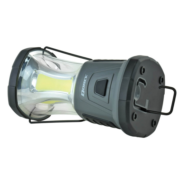 The Adventure Max Lantern sports a powerful 2000 lumens and 10,000 square foot range verified using ANSI test standards. Powered by 4 x D cell batteries (included), this lantern will run for 7 hours on high and as long as 50 hours on low. A dedicated red safety flasher and S.O.S. light provide added safety signaling for you and your family.