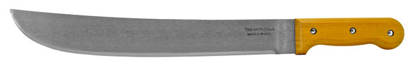 """The Tramontina 14"""" Bush machete is the standard, all-purpose machete with a normal, straight-back blade. The blade is evenly weighted and fairly stout. It is also commonly called a bush machete."""