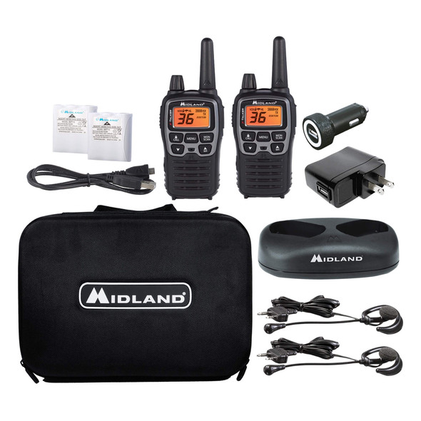 The Midland® T77VP5 X-Talker Extreme 2-Way Radios 2-Pack makes long-range communication convenient, reliable, and safe. This full-featured radio set includes 2 Midland T77VP5 X-Talkers and all the accessories you need for complete confidence on long treks, on the road, or on the job.