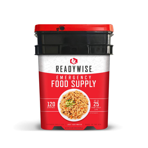120 servings of hearty freeze-dried entrée meals (lunches and dinners). With an assortment of 13 delicious varieties you can eat for an entire week without repeating the same meal! These meals are easy to prepare.... simply combine with hot water, wait 10 minutes, and enjoy!