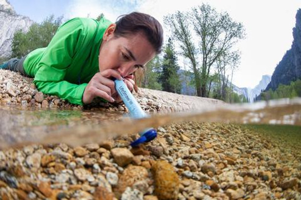 """The original, award-winning ultralight personal """"straw"""" filter for outdoor sports, survival and emergencies. With LifeStraw Personal Survival Water Filter you are able to drink from any river, stream, lake or pond without a problem! Yes! Any water mass and can be filtered through this amazing LifeStraw Water Filter! Light weight and easy to use for all ages!"""