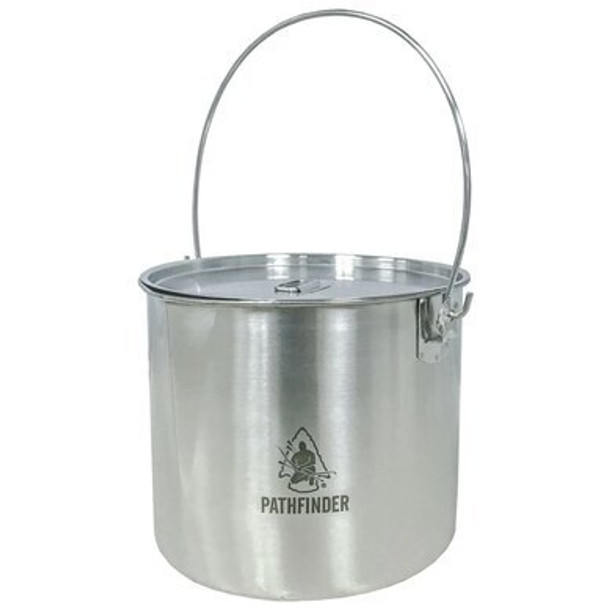 Our 120 oz. Stainless Steel Bush Pot is perfect for a outdoor activity with your family. Durable, reliable, fire ready and light weight easy to travel around and storage.