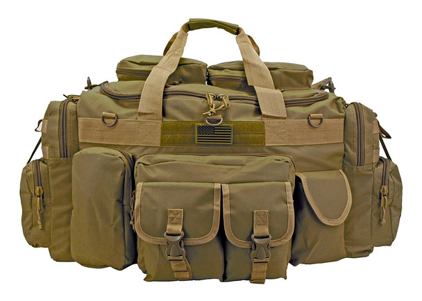 EastWest USA - XL Tank Tactical Duffle Bag - Dessert Tan. Perfect bug out bag setup, plenty of room for the essentials. Works great as a tactical travel trunk bag as well or a large field range bag.